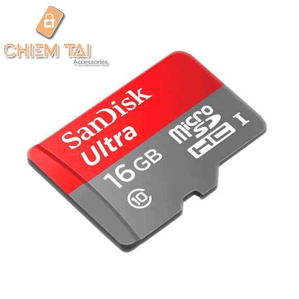 Thẻ nhớ MicroSD SanDisk Ultra 16GB Tốc độ 80mb/s Class 10 (chính hãng) - 2960846 , 307816498 , 322_307816498 , 140000 , The-nho-MicroSD-SanDisk-Ultra-16GB-Toc-do-80mb-s-Class-10-chinh-hang-322_307816498 , shopee.vn , Thẻ nhớ MicroSD SanDisk Ultra 16GB Tốc độ 80mb/s Class 10 (chính hãng)