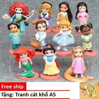 Bộ 11 búp bê công chúa Disney