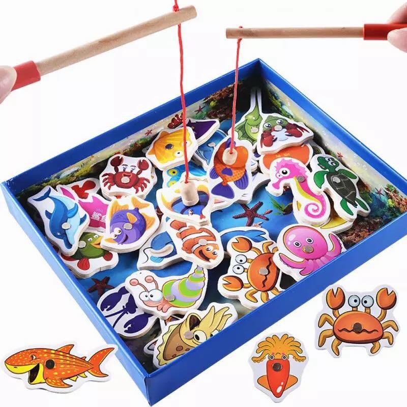 Bộ câu cá bằng gỗ 32 sinh vật biển