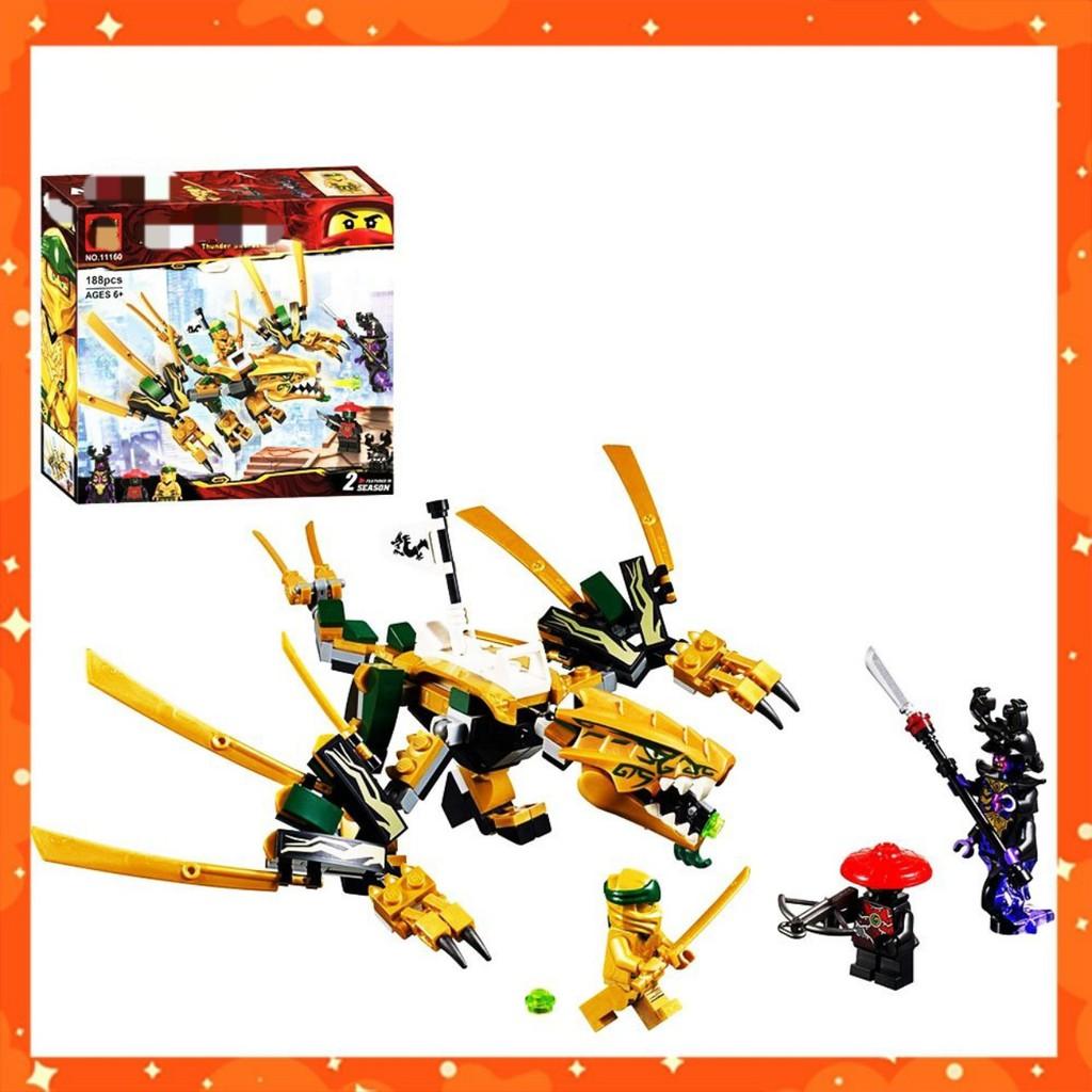 [ XẢ KHO ] [ GIÁ RẺ GIẬT MÌNH ] Đồ chơi xếp hình lego 💎 Lắp ghép Lego Ninjago Rồng Vàng Huyền Thoại 11160 ảnh thật
