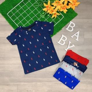 Áo thun bé trai vải xuất dư 10-27kg thương hiệu Việt