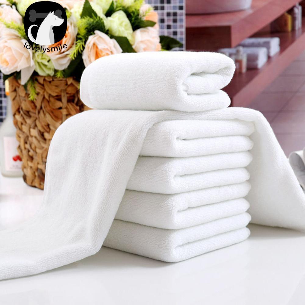 1 Khăn vải mềm màu trắng dành cho khách sạn kích thước 30