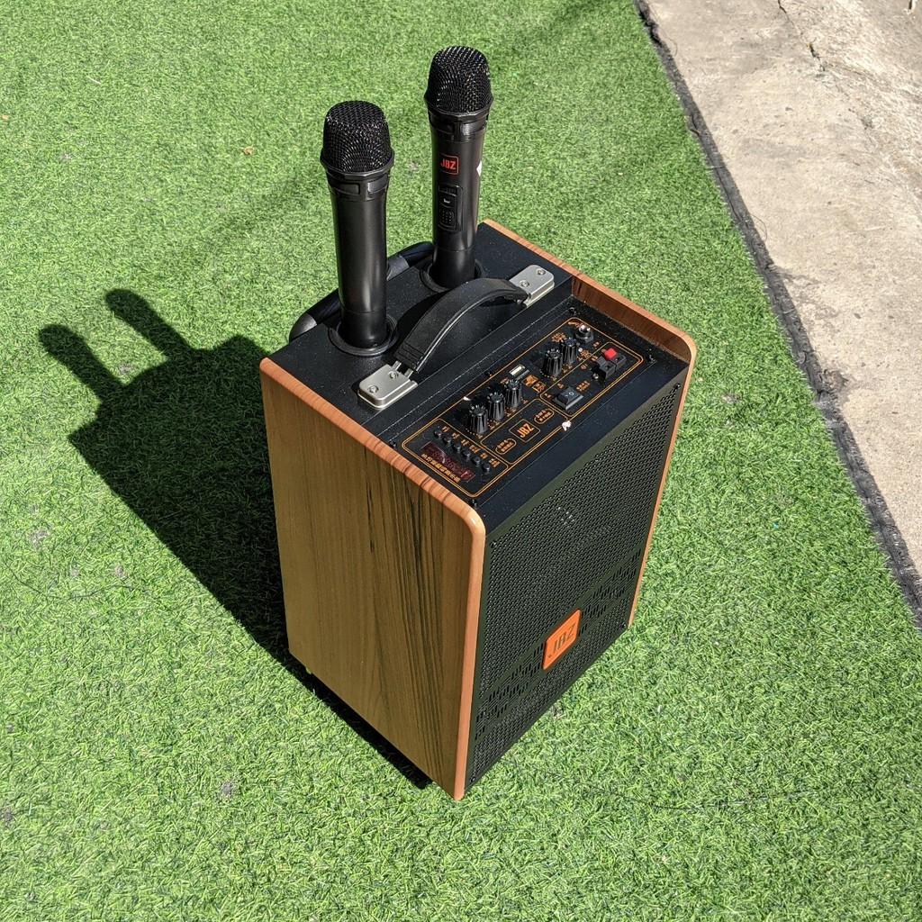 Loa kéo di động JBZ J2 - Bass 2.5 tấc - 2 đường tiếng công suất mạnh mẽ - Thiết kế nhỏ gọn, sang trọng - Tặng kèm 2 mic
