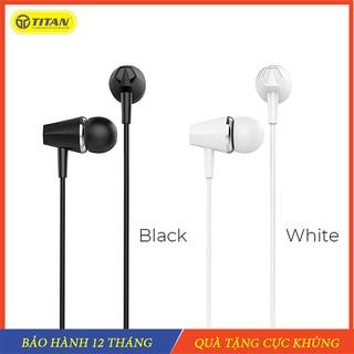 Tai nghe iphone, tai nghe nhét tai Titan chính hãng - Chân cắm 3 5 cho điện thoại và máy tính latop thumbnail