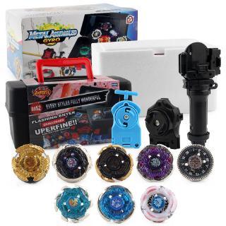 8pcs Constellation Burst Beyblade Set w/ Grip Launcher Portable Storage Box Toy