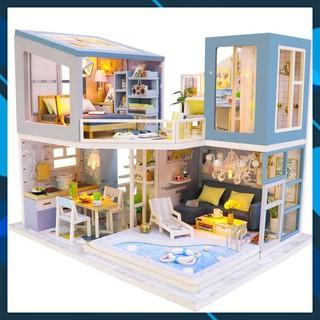 Mô hình nhà búp bê gỗ DIY Nhà búp bê lắp ghép Lần Đầu Gặp Gỡ HongDa M910 Toy World thumbnail