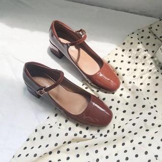 Giày Mary janes da bóng gót cao 5cm Hàng quảng châu
