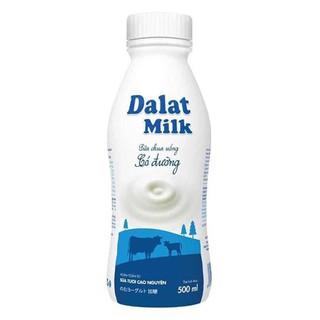 Chai sữa chua uống Dalat Milk có đường 500ml