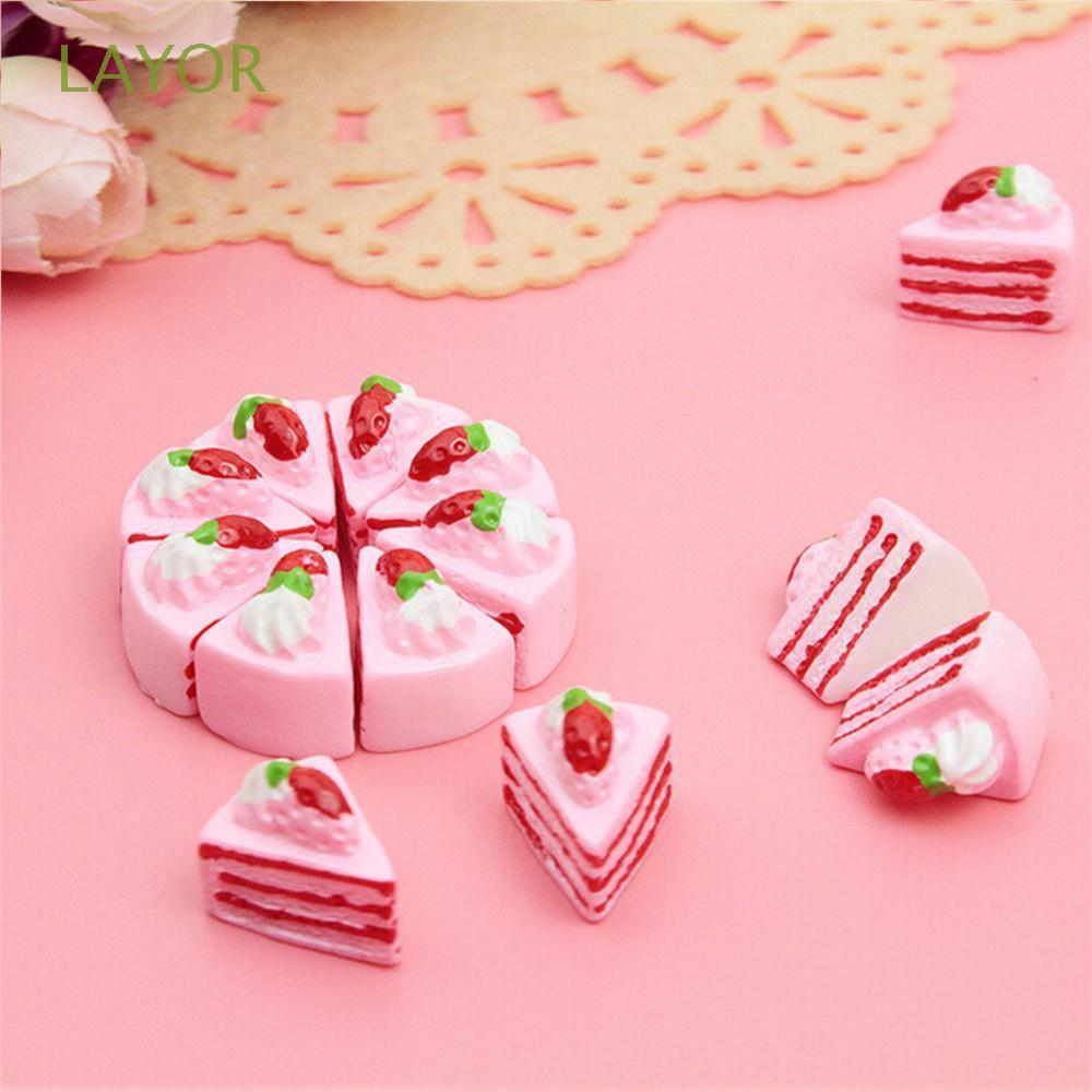 Set 10 bánh kem nhựa đáng yêu dùng để trang trí