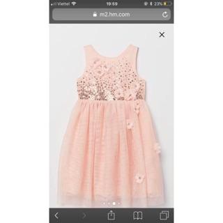 Váy HM đính kim sa size2-8T