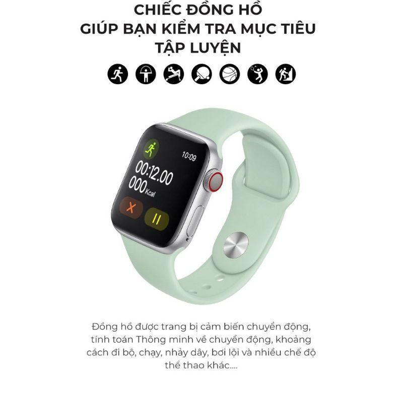 Smart Watch T500 Seri 5 Thay Được Dây kết nối Bluetooth 44mm Đo nhịp tim I LOVE CASE [vthm9]