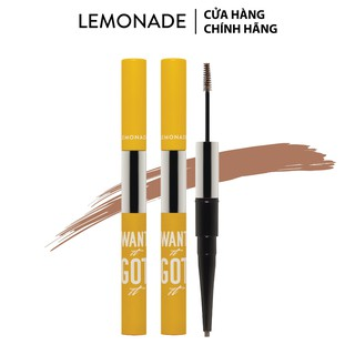 Combo 2 chì kẻ mày 2 đầu Lemonade Want It Got It Dual Eyebrow 4gx2