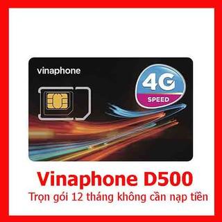 Sim 4G Vinaphone D500 trọn gói 1 năm mỗi tháng 5GB tốc độ cao