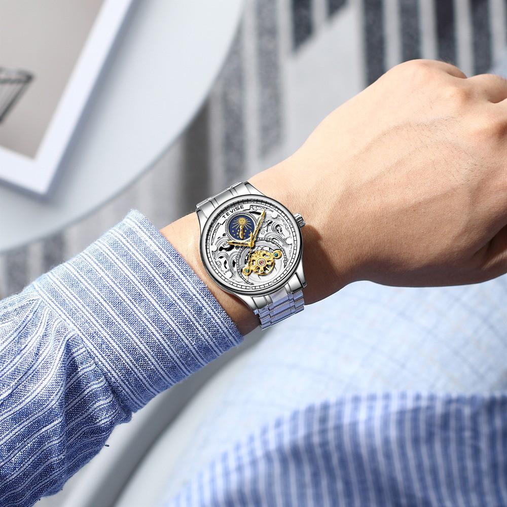 Đồng hồ Cơ Nam TEVISE HAYDEN- Dây Thép Đúc Đặt - Quý Ông Thời Thượng