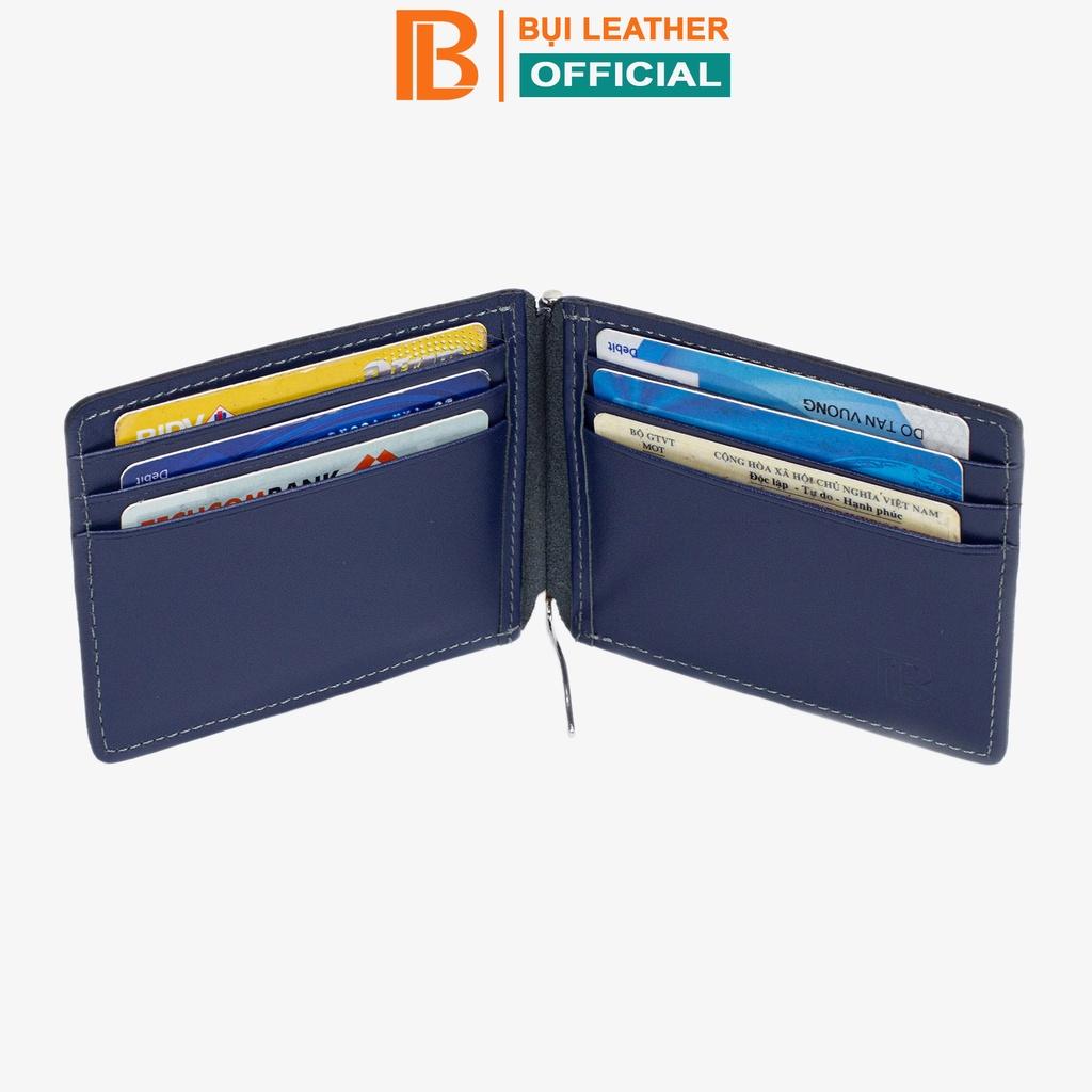Ví kẹp tiền da bò nappa V109 cao cấp nhỏ gọn tiện lợi phong cách Bụi leather bảo hành 24 tháng