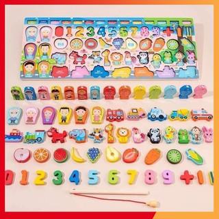 Đồ chơi bảng chữ số xếp hình gỗ trí tuệ dành cho bé học đếm Đồ chơi trẻ em thông minh skids store