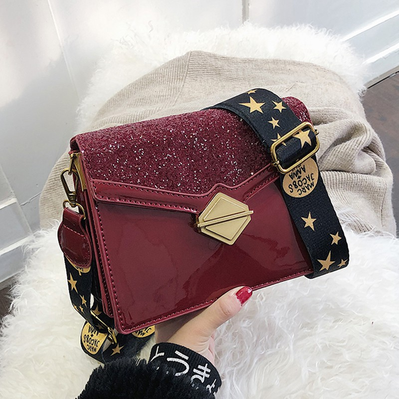 Chic on the new texture fashion chain small square bag femal