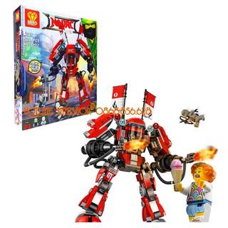Bộ Lego Xếp Hình Ninjago Siêu Robot Chiến Đấu. Gồm 520 Chi Tiết. Lego Ninjago Lắp Ráp Đồ Chơi Cho Bé