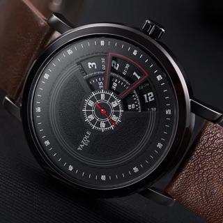 Đồng hồ nam YAZOLE dây da (đen ,nâu) thumbnail