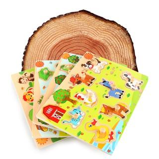 Bảng gỗ hoa quả động vật đồ chơi giáo dục giáo cụ montessori