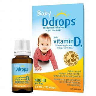 Baby DDrops Vitamin D3 Cho Trẻ Sơ Sinh Mỹ
