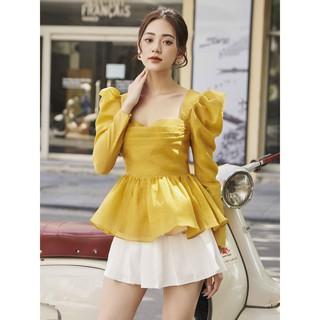 RECHIC Chân váy Joly Màu Trắng quần xếp ly trơn xinh xắn dễ thương dạo phố thumbnail