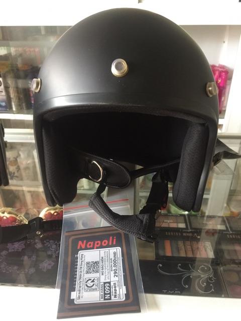 Nón bảo hiểm 3/4 napoli cao cấp