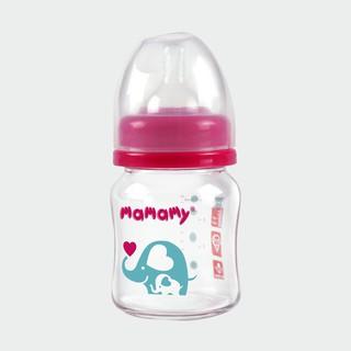 Bình sữa thủy tinh cổ rộng chống sặc, chống đầy hơi cho bé Mamamy 120ml.