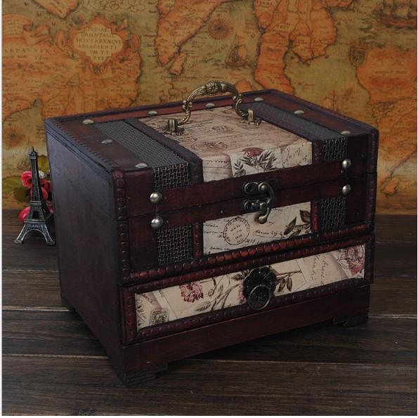 Hộp gỗ giả cổ phong cách châu Âu dùng đựng đồ trang điểm, đồ trang sức - 2812301 , 963322136 , 322_963322136 , 280000 , Hop-go-gia-co-phong-cach-chau-Au-dung-dung-do-trang-diem-do-trang-suc-322_963322136 , shopee.vn , Hộp gỗ giả cổ phong cách châu Âu dùng đựng đồ trang điểm, đồ trang sức
