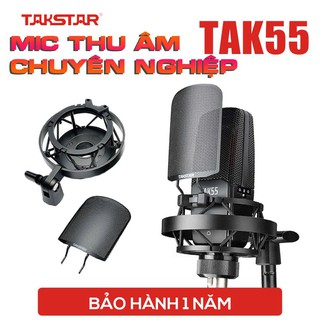 Chính hãng Mic thu âm chuyên nghiệp cao cấp Takstar TAK55 hát karaoke, livestream, bán hàng, micro thumbnail