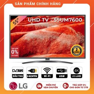 Smart Tivi LG 55 Inch UHD 4K 55UM7600PTA Model 2019 - Có Magic Remote (Chính Hãng)