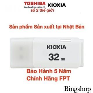 USB 32GB Kioxia (Toshiba) - Sản xuất tại Nhật Bản-32GB- Bảo Hành 5 Năm- Chính Hãng FPT thumbnail