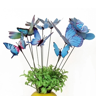 [Stock] Simulation 3D Plunger Butterfly, Creative Simulation Plunger Butterfly Colorful Whimsical Single Layer Butterfly Outdoor Flowerpot Home Decoration