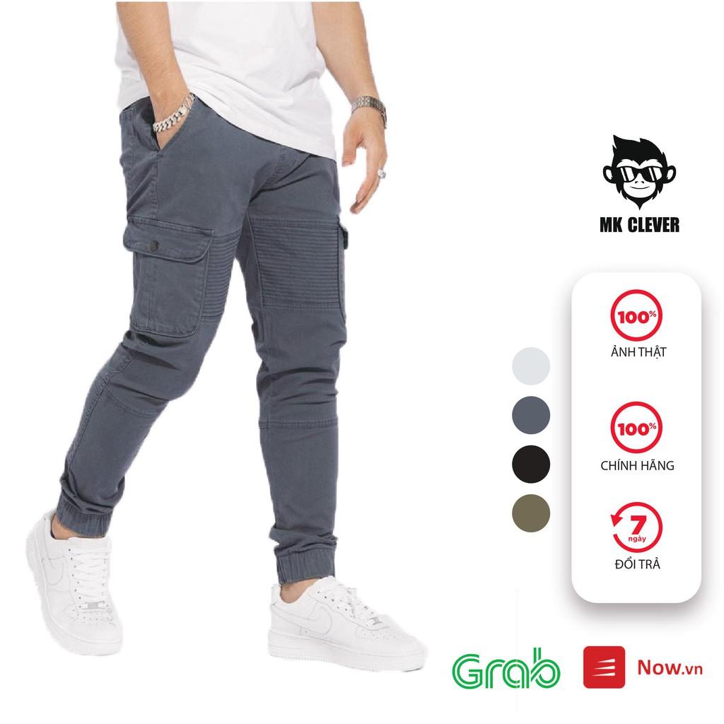 Quần dài nam jogger kaki túi hộp MK CLEVER, vải co giãn lên form chuẩn đẹp QJK01
