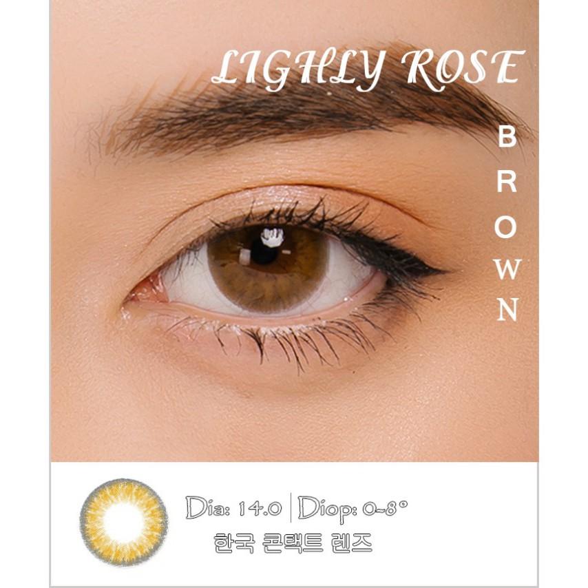 [CAM KẾT CHÍNH HÃNG] LIGHLY ROSE BROWN 6 MONTH - Lens Hàn Quốc 6 tháng