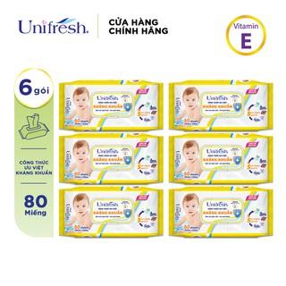 Combo 6 khăn ướt Unifresh Vitamin E thumbnail