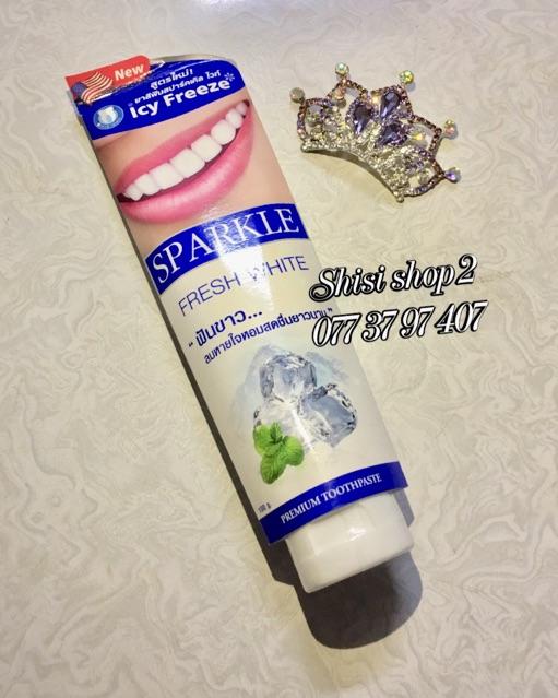 (Có tem)Kem đánh răng siêu trắng SPARKLE WHITE& LEMON SODA 100g Thái lan