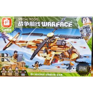 Lego FC3418 Lắp Ráp Trực Thăng 2 Chong Chóng Chiến Đấu ( 713 Mảnh )