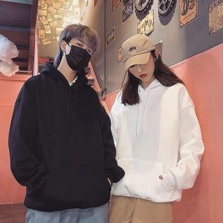 Yêu Thích[4 màu] Áo nỉ Hoodie, sweater trơn form suông rộng có mũ unisex cá tính, chất nỉ bông