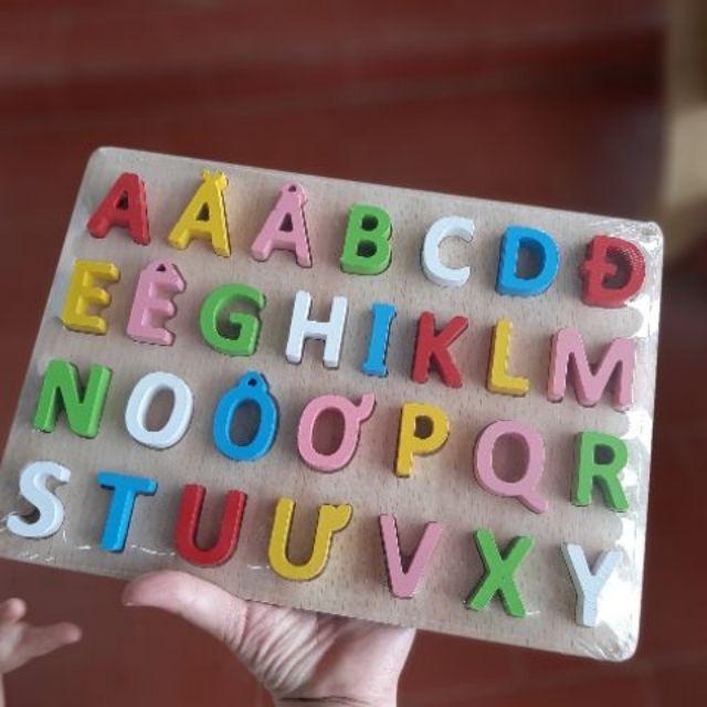 Bảnh chữ cái tiếng việt bằng gỗ