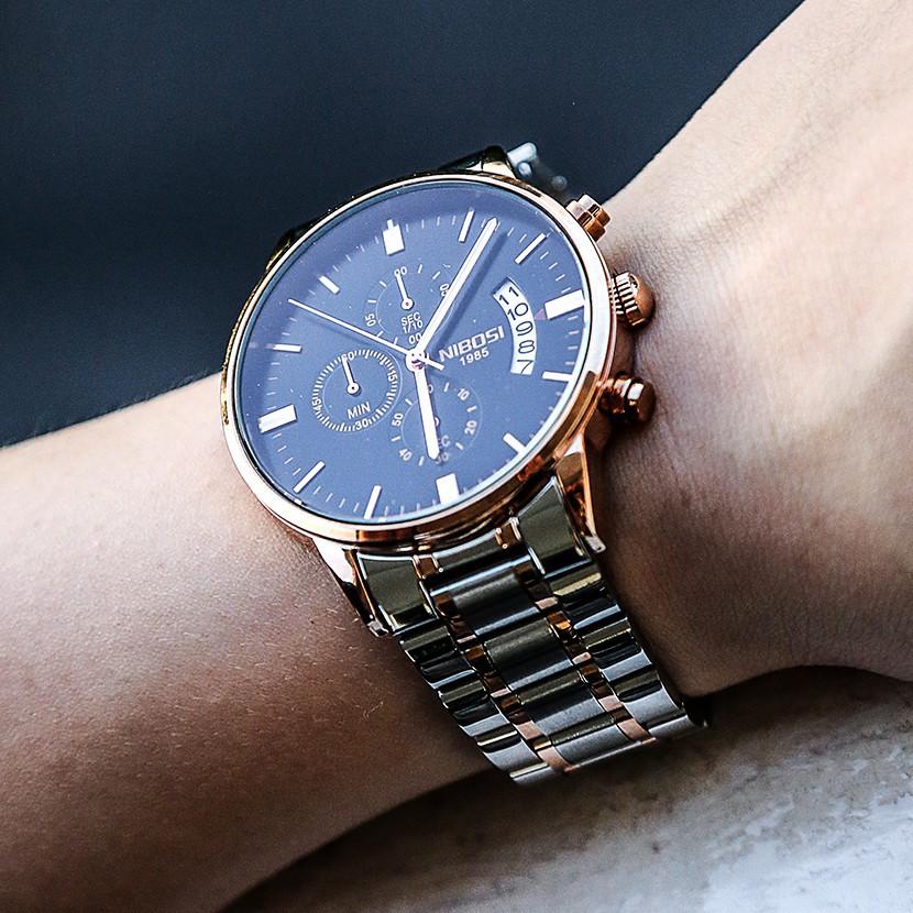 [Tặng vòng tay] Đồng hồ nam NIBOSI chính hãng NI2309.06 Fullbox dây đeo hợp kim cao cấp không gỉ