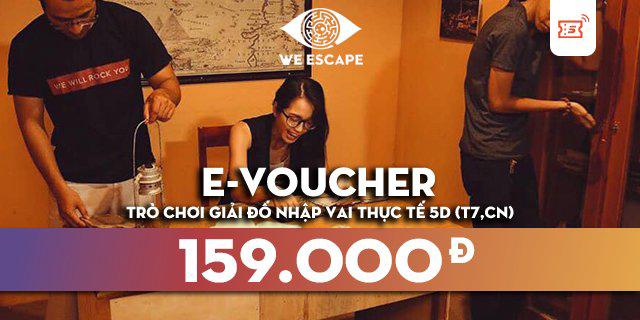 """Hà Nội - Hồ Chí Minh [E-Voucher] - We Escape - Trò chơi giải đố nhập vai thực tế dành cho đội nhóm kịch tính và hấp dẫn giá chỉ còn <strong class=""""price"""">8.900.000.000đ</strong>"""