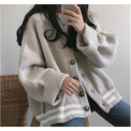 [Mã WARN25 giảm 35K đơn 200K] Áo khoác len dệt kim nữ thu đông phiên bản Hàn Quốc