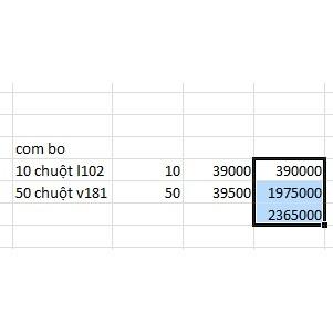 10 chuột l102 và 50 v181