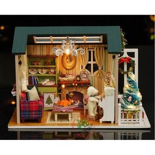 Mô hình nhà gỗ Giáng sinh yêu thương
