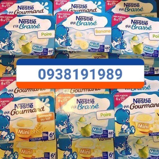 Váng sữa date 3/2019 và sữa chua Nestle Pháp date 12/2018