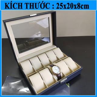 [Mã WTCHDEC giảm 20K ] Hộp đựng đồng hồ bằng da 10 chiếc S1211, hộp trưng bày nhiều đồng hồ thumbnail