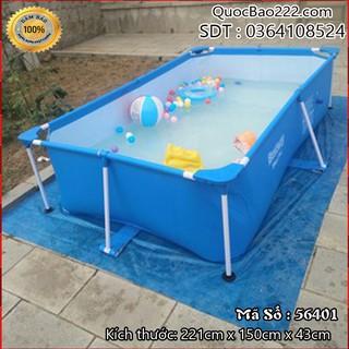 Bể bơi khung kim loại 221cm x 150cm x 43cm – Bestway 56401