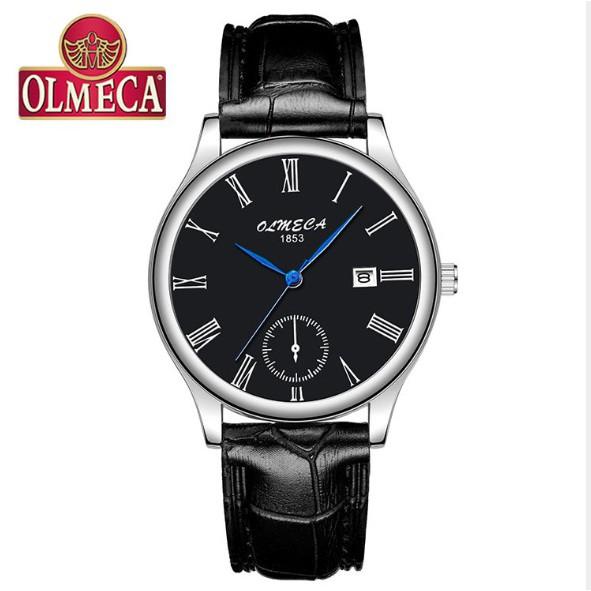 Đồng hồ Olmeca nam dây da Japan 758 (fullbox)