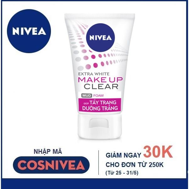 Sữa rửa mặt khoáng chất Nivea trắng da & sạch cặn trang điểm (100g) - 86472